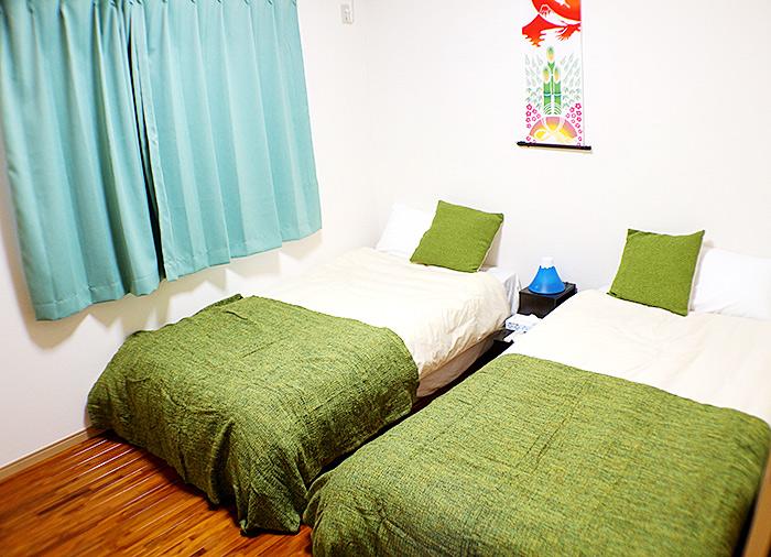 名護市Bamboo ゆっくりくつろげる寝室