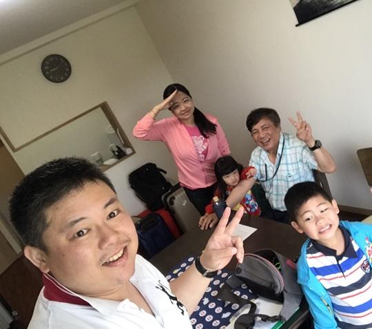 台湾からの仲良し家族